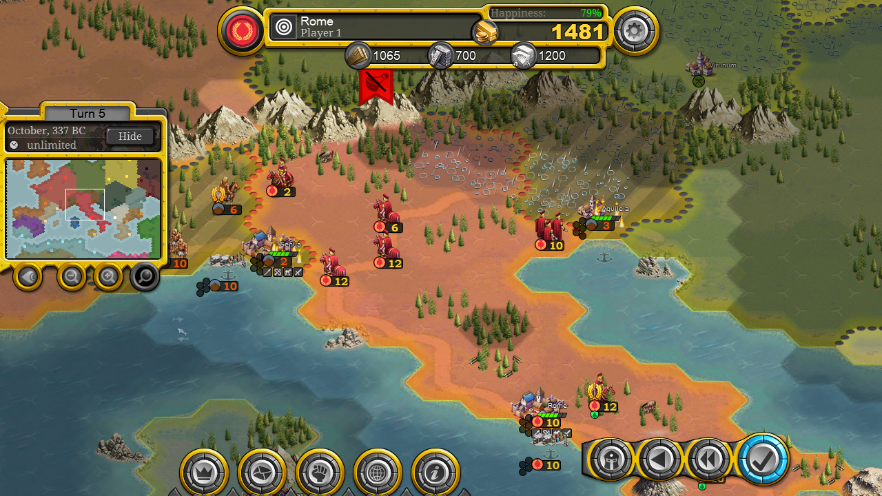 Demise of Nations - Grand Strategy Wargame for Mac OS X Image